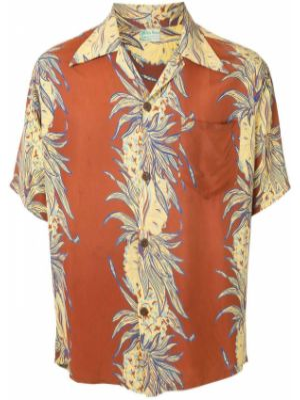 Koszula krótkie z krótkim rękawem klasyczna beżowy Fake Alpha Vintage