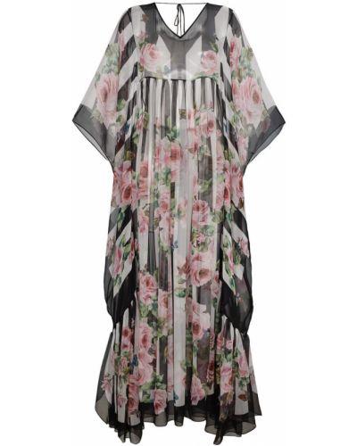 Платье макси с принтом шелковое Dolce & Gabbana