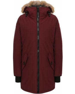 Куртка с капюшоном нейлоновая бордовый Canada Goose