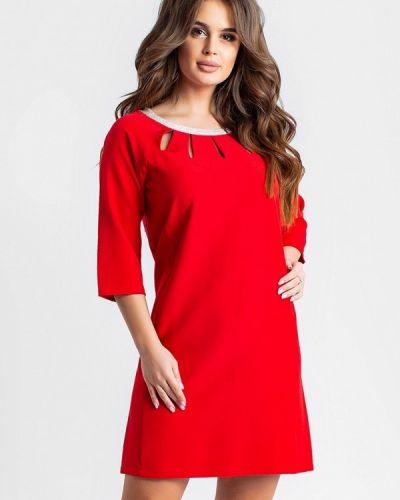 Вечернее платье осеннее красный Modna Anka