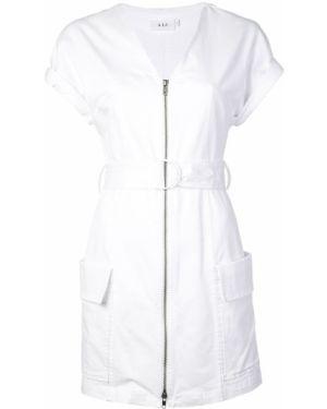 Платье мини с V-образным вырезом на молнии Alc