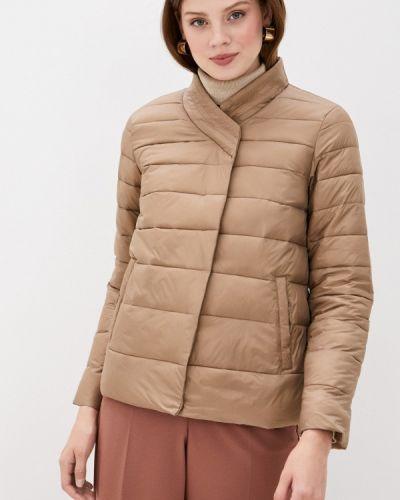 Бежевая теплая куртка снежная королева