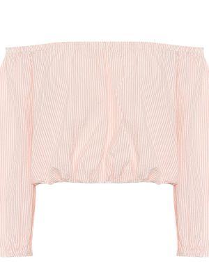 Ватный хлопковый розовый кроп-топ Melissa Odabash