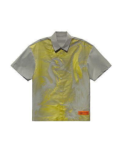 Szara koszula materiałowa Heron Preston