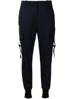 Зауженные синие брюки карго с карманами 3.1 Phillip Lim