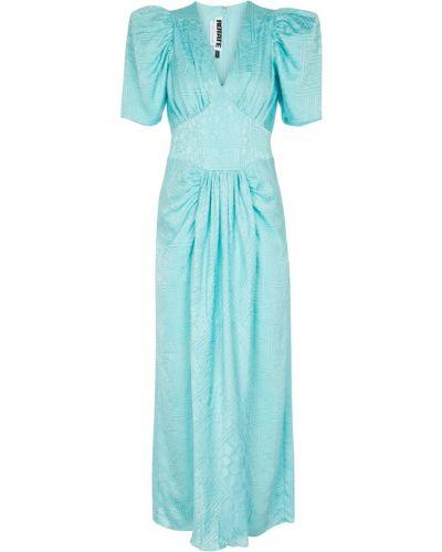 Niebieska satynowa sukienka Rotate Birger Christensen