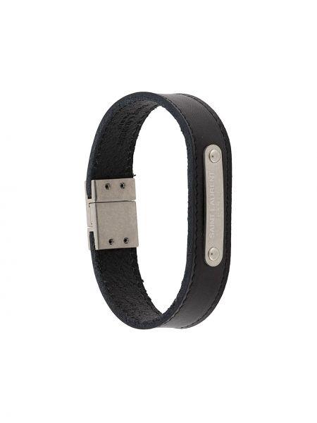 Z paskiem skórzany czarny bransoletka Saint Laurent