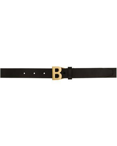 Черный тонкий ремень с пряжкой с поясом Balenciaga