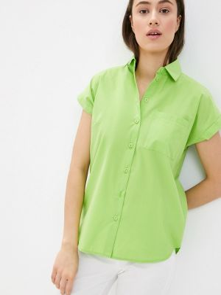 Рубашка с коротким рукавом зеленый Remix
