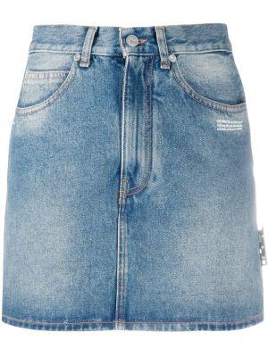 С завышенной талией белая джинсовая юбка на молнии Off-white