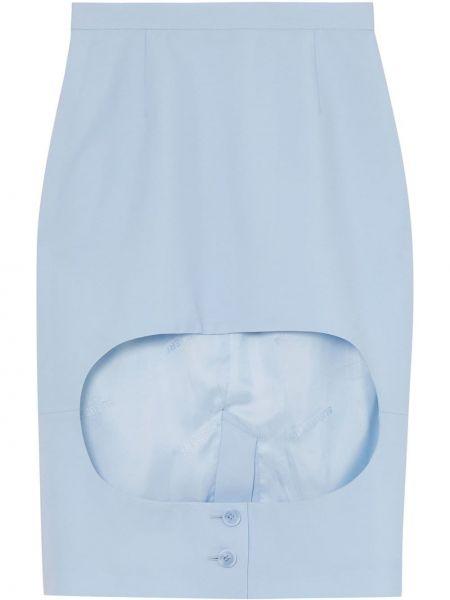 Синяя юбка карандаш на молнии с вырезом с рукавом 3/4 Burberry