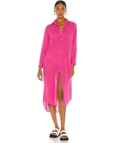 Платье рубашка - розовое Frank & Eileen