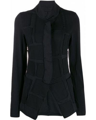 Черная длинная куртка с опушкой Rundholz Black Label