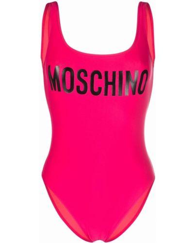 Черный купальник с принтом Moschino