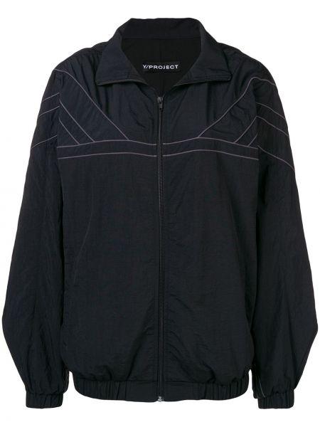 Черная длинная куртка с воротником с манжетами Y/project