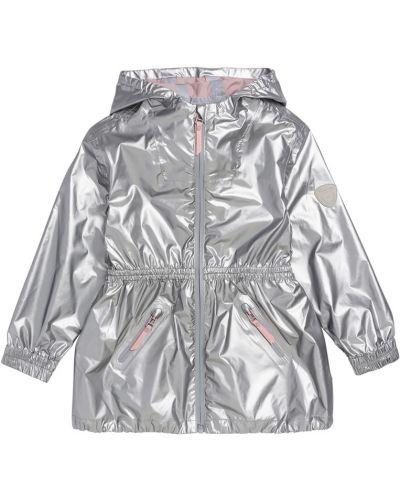 Куртка с капюшоном серебряная на молнии Bonpoint