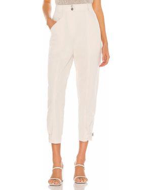 Beżowe spodnie bawełniane Rebecca Taylor