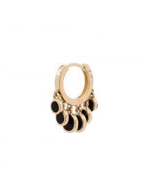 Золотистые желтые серьги-кольца с камнями Jacquie Aiche