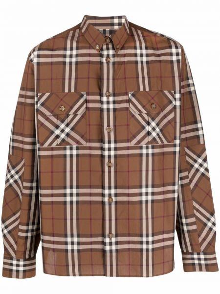 Koszula z printem - brązowa Burberry