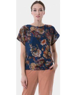 Блузка с коротким рукавом синяя весенний Vladi Collection