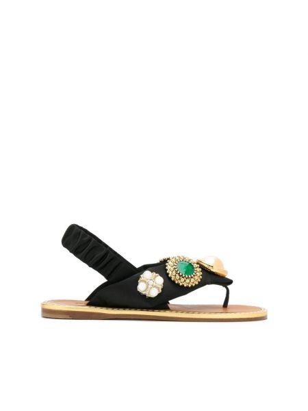 Czarne sandały Miu Miu