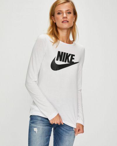 Блузка белая прямая Nike Sportswear