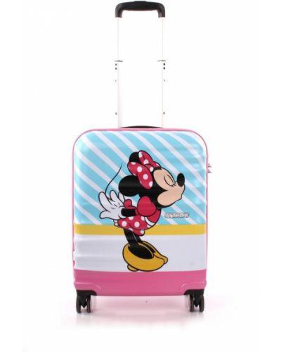 Różowa walizka American Tourister