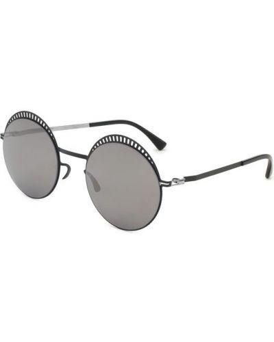 Солнцезащитные очки круглые тонкий Mykita