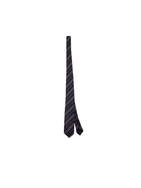 Niebieski krawat w paski Lardini