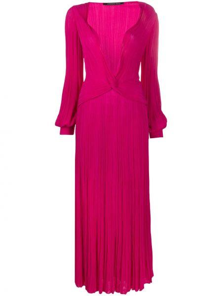 Облегающее платье розовое с декольте Antonino Valenti