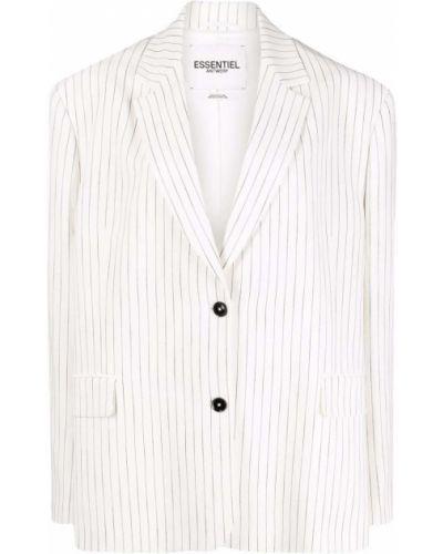 Белый классический пиджак на пуговицах из вискозы Essentiel Antwerp