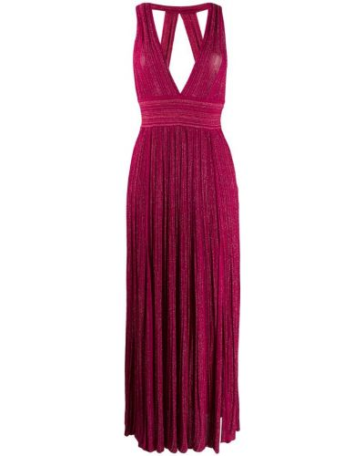 Платье макси розовое с декольте Antonino Valenti