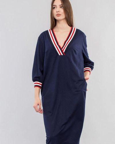 Повседневное синее платье Maxa
