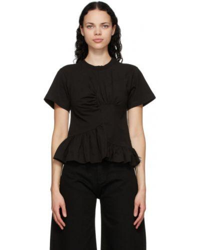 Bawełna bawełna z rękawami czarny koszula Marques Almeida