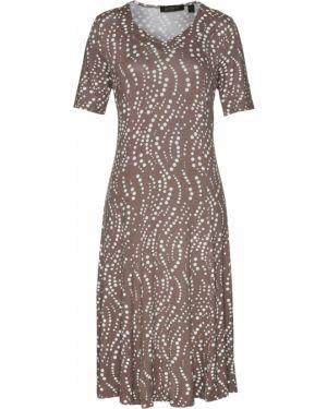 Платье в горошек с принтом Bonprix