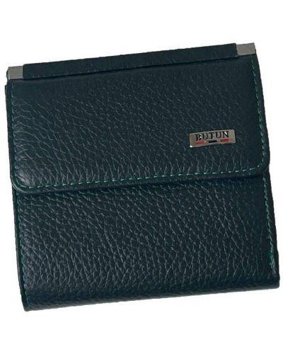 Кожаный кошелек - зеленый Butun