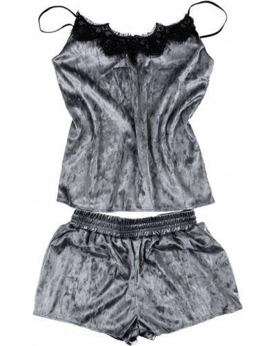Кружевные пижамные велюровые шорты Brs