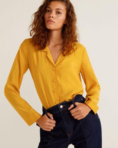 Блузка с длинным рукавом на пуговицах с воротником Mango