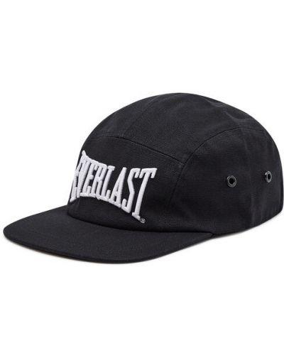 Czarna czapka z daszkiem Everlast