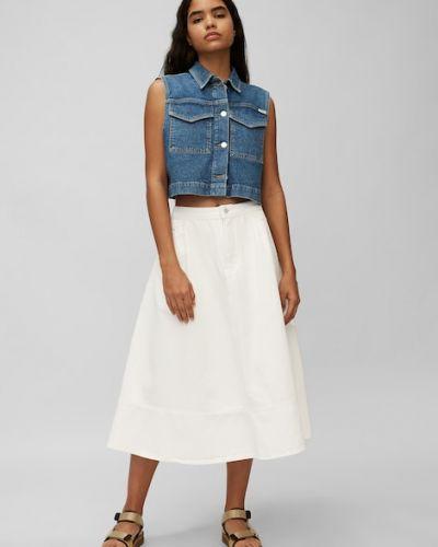 Biała spódnica bawełniana Marc O Polo