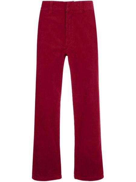 Bawełna prosto bawełna spodnie o prostym kroju z kieszeniami Supreme