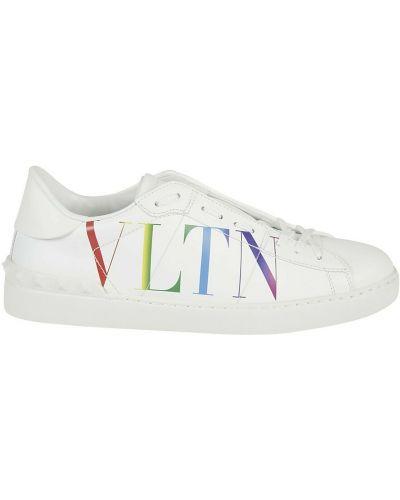 Białe półbuty Valentino
