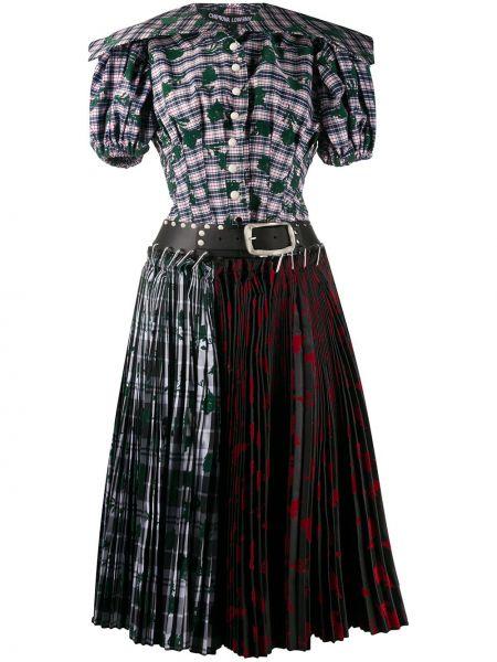 Плиссированная юбка шотландка с поясом Chopova Lowena