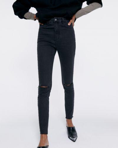 Черные джинсы-скинни с разрезом Zara