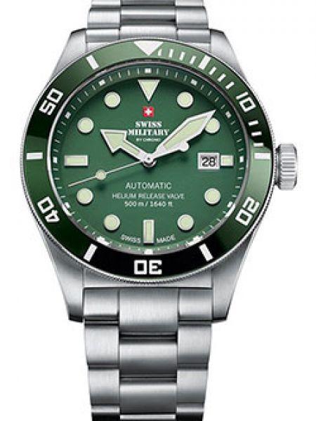 Часы механические водонепроницаемые зеленый Swiss Military
