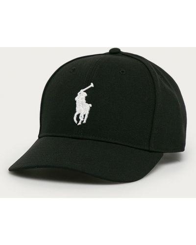 Czarny kapelusz materiałowy Polo Ralph Lauren