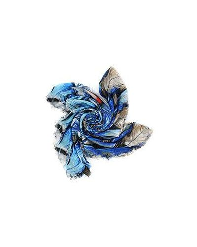 Синий палантин Roberto Cavalli
