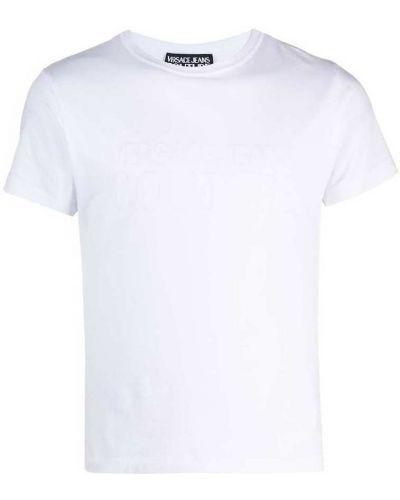 Światło z rękawami t-shirt z dekoltem Versace Jeans Couture