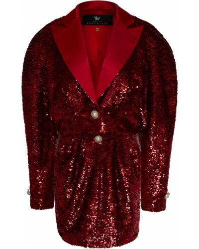 Красный костюм с пайетками с лацканами Maison Bohemique