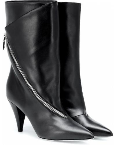 Czarny skórzany buty Givenchy